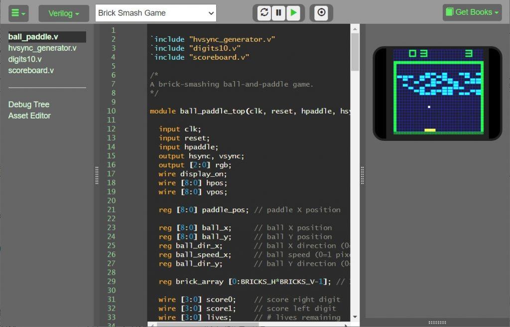 【FPGA】Verilog/HDL解説流し読み&Emulatorでサンプルコードのテスト(FPGA + Verilogでゲーム機をつくろう日記1日目)