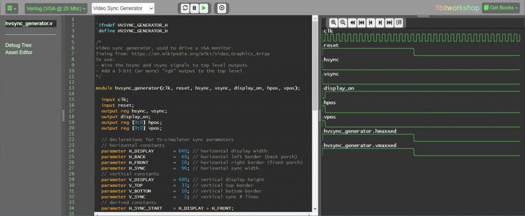 【FPGA】VGAでテストパターンを出力:同期信号とトップモジュール編(FPGA + Verilogでゲーム機をつくろう日記2日目)