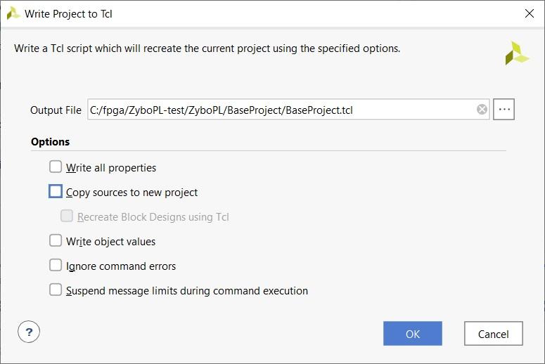 【FPGA】Vivadoのプロジェクトをtclで書きだして配布する