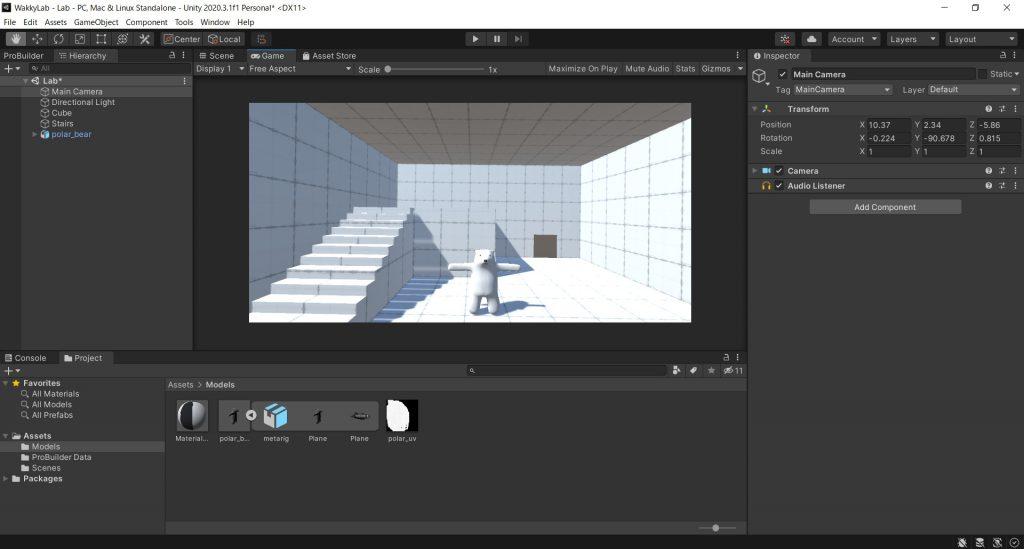 【Unity】BlenderでエクスポートしたfbxファイルをUnityに持ってきてテクスチャを反映させる(Unity実験室その3)